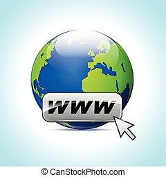 web, ikone, abstraktes konzept