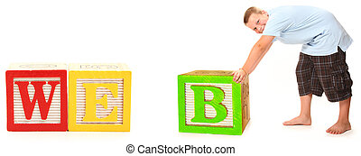 WEB in Alphabet Blocks