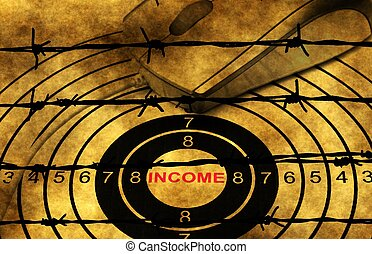 Web income target against barbwire