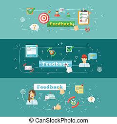 web, infographic, feedback