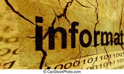 Web information tag on grunge background