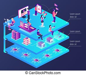 3d vector isometric illustration
