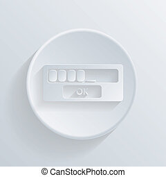 web-interface, cercle, shadow., icône