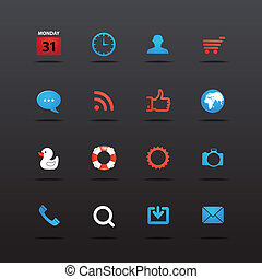 Web interface icons collection