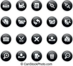 Web Interface - Vector buttons.
