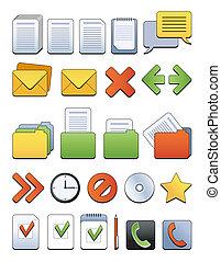 web, kantoor, pictogram