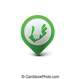 web, karten geben, ikone