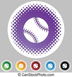 web, knoop, honkbal, vrijstaand, achtergrond