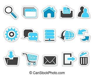 web, knoop, set, internet beelden