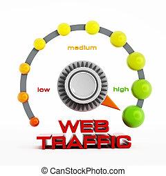 web, knoop, verkeer