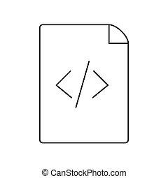web, kodierung, html, dünne linie, seite