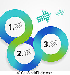 web, kreis, infographic, schablone