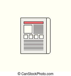 Web Landing Page Vector Outline Icon Illustration