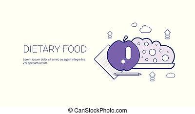 web, levensstijl, ruimte, voedingsmiddelen, gezonde , dieet-, mal, kopie, spandoek