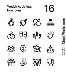 web, liebe, heiligenbilder, beweglich, 1, wedding, design, datieren, satz