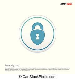 Web Lock Icon - white circle button