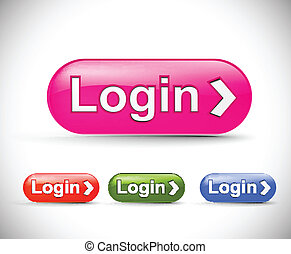 web login icon, includes four versions for your web icon.