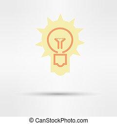 web, luce, segno, idee, vettore, disegno, icon.