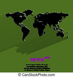 web, mappa, appartamento, disegno, icona, mondo