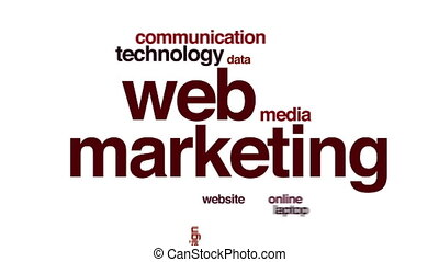 Web marketing animated word cloud.