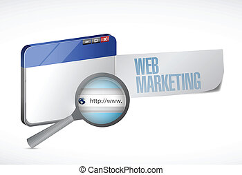 web marketing browser illustration design