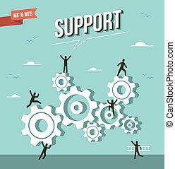 Web Marketing cog wheels illustration - Web marketing gear...