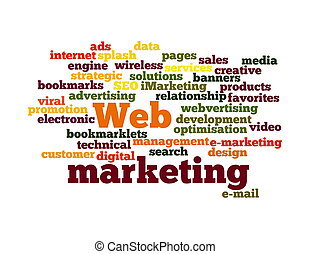 Web Marketing word cloud isolated