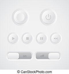Web media player buttons collection