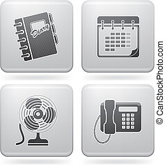 Web Miscellaneous Set - Miscellaneous office icons (part of...