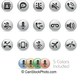 Web & Mobile Icons 1 - Metal Round