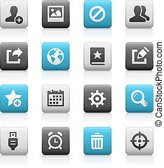 Web & Mobile Icons 2 - Matte Series - Vector icons for your...