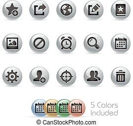 Web & Mobile Icons 2 - Metal Round