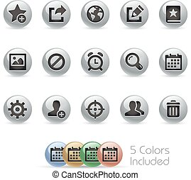 Web & Mobile Icons 2 - MetalRound