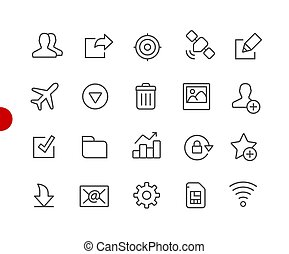 Web & Mobile Icons 2 // Red Point Series