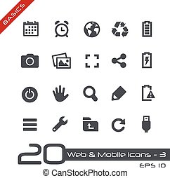 Web & Mobile Icons-3 // Basics