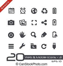 Web & Mobile Icons-3 // Basics