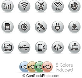 Web & Mobile Icons 6 - Metal Round