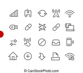 Web & Mobile Icons 6 // Red Point Series