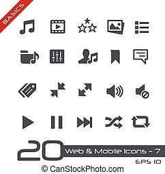 Web & Mobile Icons-7 // Basics