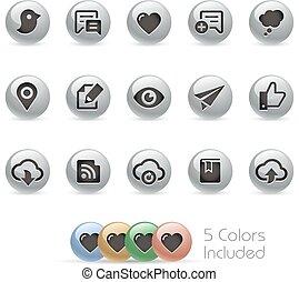 Web & Mobile Icons 8 - Metal Round