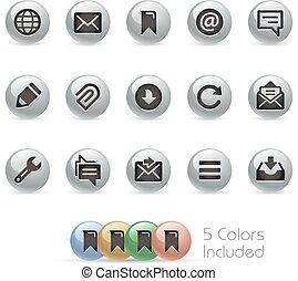 Web & Mobile Icons 9 - Metal Round