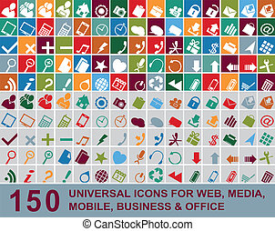 Web multicolor icons