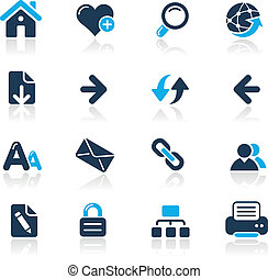 Web Navigation / Azure - Vector icons for your website or ...
