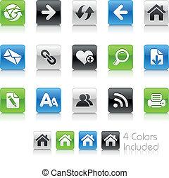 Web Navigation / Clean - The EPS file includes 4 color...