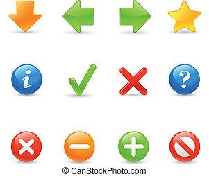 Web Navigation - Glossy web buttons