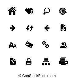 Web Navigation Icons // Azure Series
