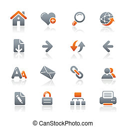 Web Navigation Icons / Graphite - Vector icons for your...