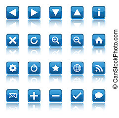Web navigation icons isolated on white background