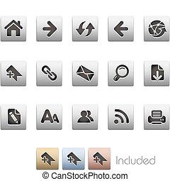 Web Navigation / Metalic - The EPS file includes 4 color...