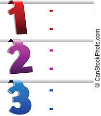 web navigation - offer template, set 1 - Vector web...